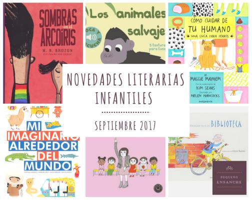 Novedades literarias Septiembre 2017
